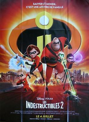 THE INCREDIBLES 2 - BRAD BIRD / SUPER HEROS - ORIGINAL LARGE FRENCH MOVIE POSTER