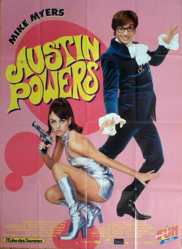 AUSTIN POWERS - MYERS / HURLEY / YORK - ORIGINAL LARGE FRENCH MOVIE POSTER