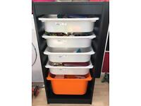 Ikea Trofast Storage Unit with Drawers / tubs. Excellent condition