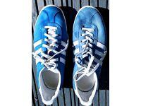 Adidas boys gazelle blue suede trainers