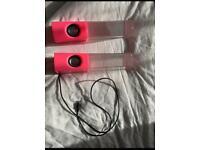 Pink water speakers