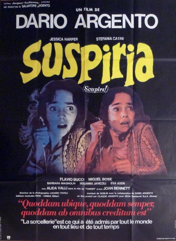 SUSPIRIA - DARIO ARGENTO / HORROR - ORIGINAL LARGE FRENCH MOVIE POSTER