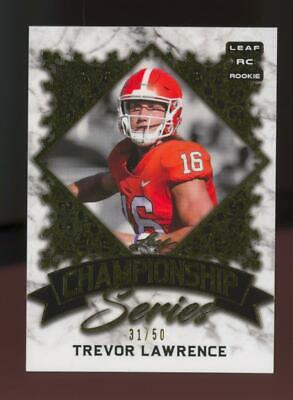 2021 Leaf Championship Series Gold XRC Trevor Lawrence 31/50 RC Rookie