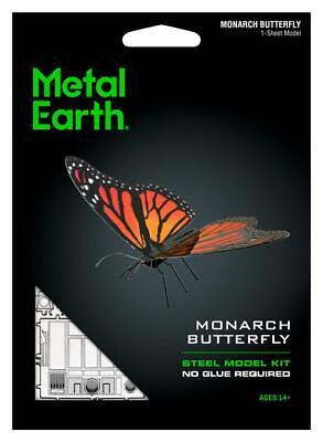 Fascinations Metal Earth Monarch Butterfly 3D Laser Cut Steel Model Kit MMS123 (Monarch Butterfly Kits)
