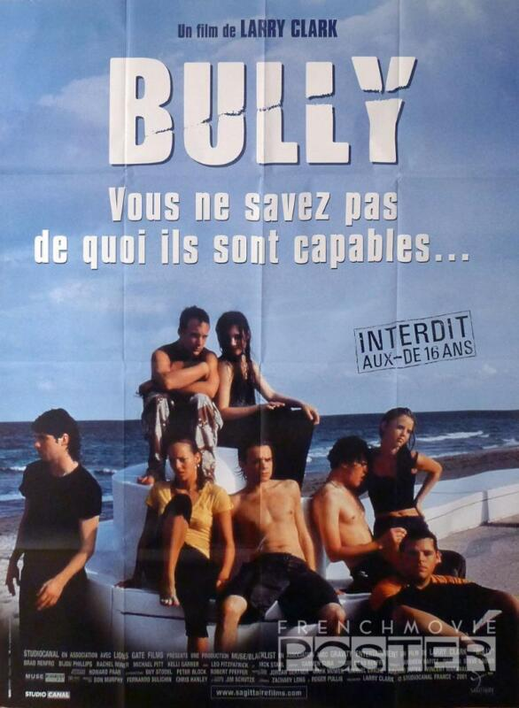 BULLY - LARRY CLARK / TEENAGERS - ORIGINAL LARGE FRENCH MOVIE POSTER