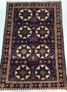 Tribal Persian Rug. Handmade, Wool Rug (Free Shipping)
