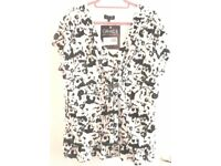 NEW BLACK & WHITE TOP BY HOUSE OF FRASER. SIZE 24.