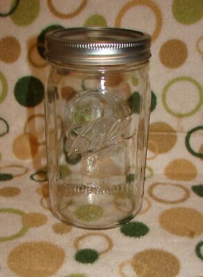 Wide Mouth Ball Mason Glass Canning Jar Embossed Fruit Basket  24 OZ Vintage 67 ()