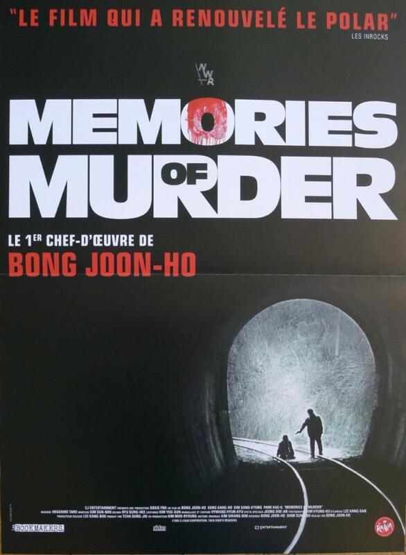 MEMORIES OF MURDER - SALINUI CHUEOK - JOON-HO BONG - REISSUE FRENCH MOVIE POSTER