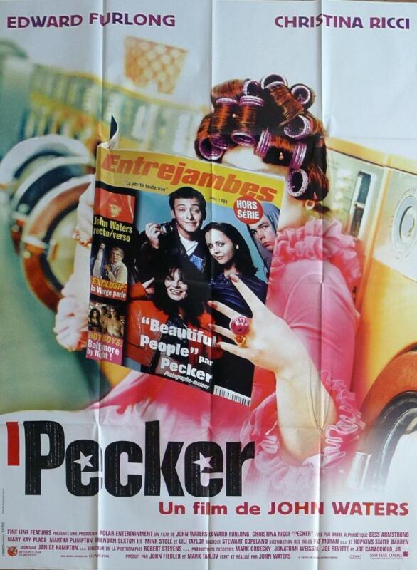 PECKER - FURLONG / RICCI / JOHN WATERS - ORIGINAL LARGE FRENCH MOVIE POSTER
