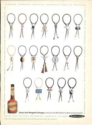 MAGAZINE PRINT AD - 1991 DEKUYPER CACTUS JUICE SCHNAPPS AD - BOLO TIES for sale  Shipping to Canada
