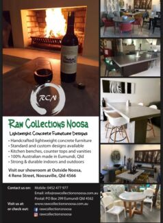 Raw Collections Noosa ~ Lightweight concrete furniture designs