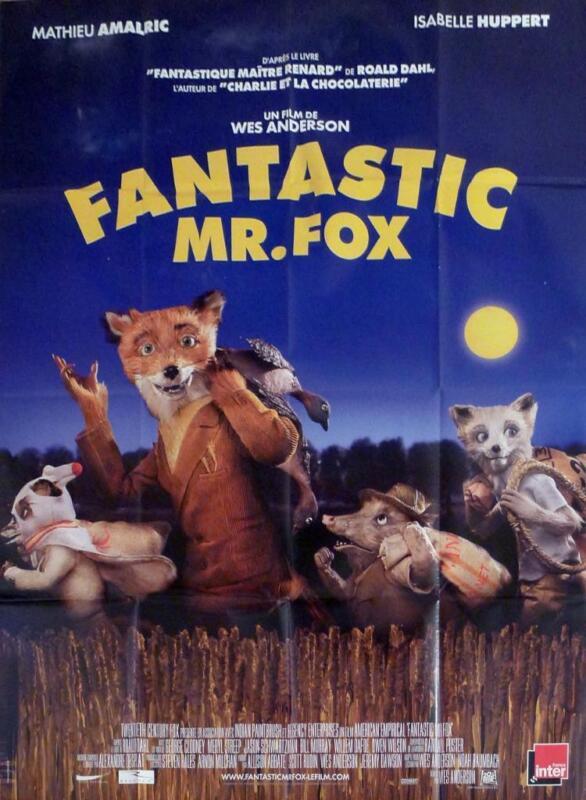 FANTASTIC MR. FOX - CLOONEY / ANDERSON / STREEP - ORIGINAL LARGE MOVIE POSTER