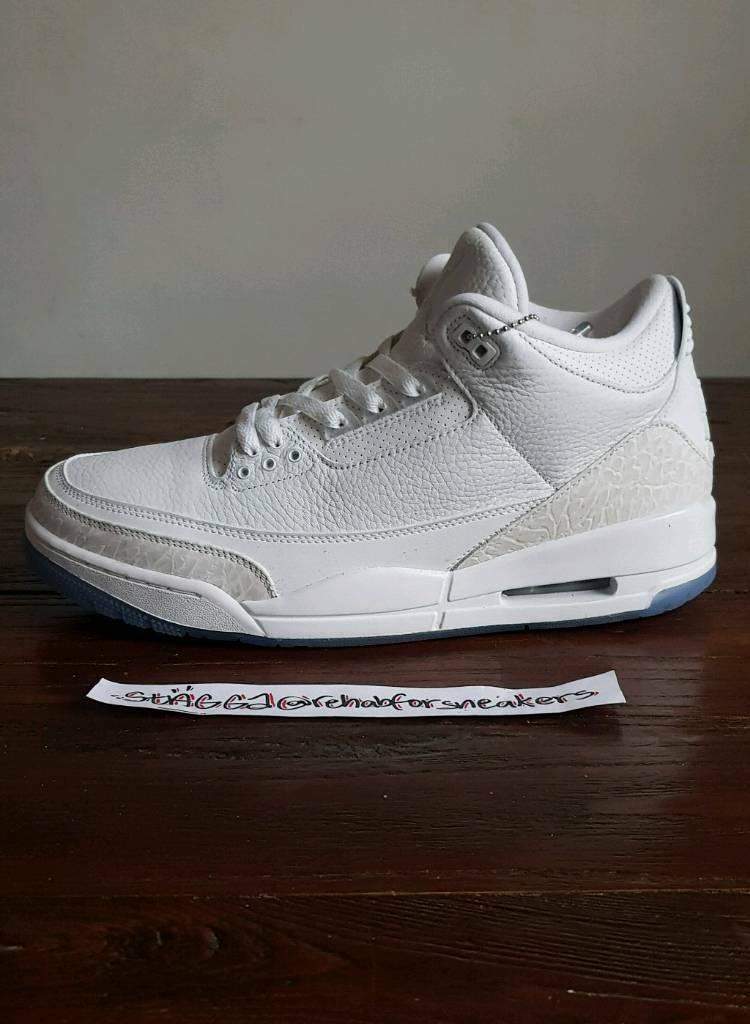 info for be363 216c8 Nike Air Jordan 3 Pure White • UK 11 EU 46 US 12 • BNIB