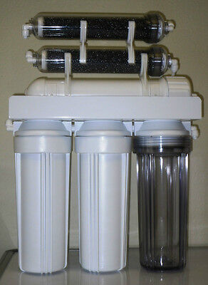 Aquarium Reef Reverse Osmosis Water Filtration 6 stage RO/DI SYSTEM 75 GPD USA ()