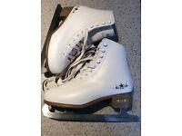 Ice-Skates UK Size 7. Barely used. Beautiful white leather uppers.