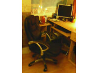 a two piece corner computer desk for sale only £18