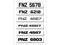 Car Number Show Plates Any Design Or Font ,Logo Or Colour Scheme