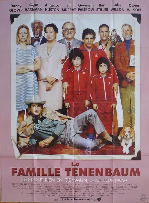 THE ROYAL TENENBAUMS - HACKMAN / ANDERSON / WILSON - ORIGINAL LARGE MOVIE POSTER