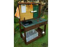 Adults and children's mud kitchens