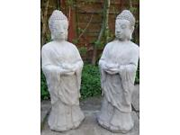 Stone Buddha Statue sculpture stone garden ornaments 66cms Tall Possibly Deliver