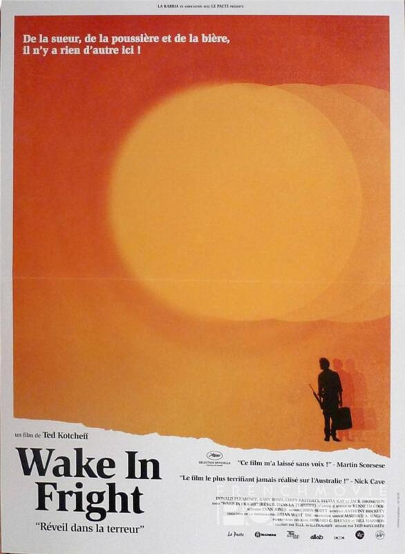 WAKE IN FRIGHT - PLEASENCE / KOTCHEFF - REISSUE SMALL FRENCH MOVIE POSTER