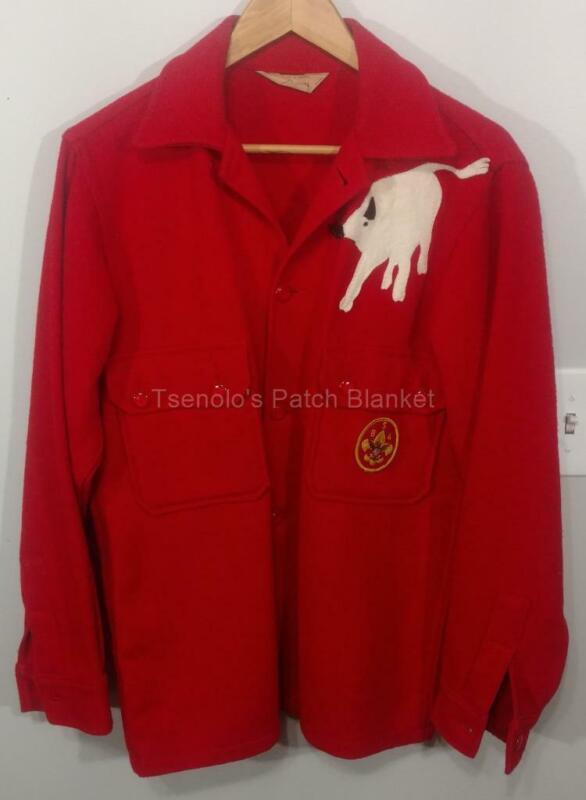 Boy Scout Red Wool Jack/Shirt Size Adult X-Small Youth Medium FREE SHIPPING