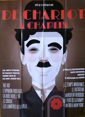 Chaplin-film Poster (CHAPLIN FILM FESTIVAL - ART DECO - ORIGINAL LARGE FRENCH MOVIE POSTER)