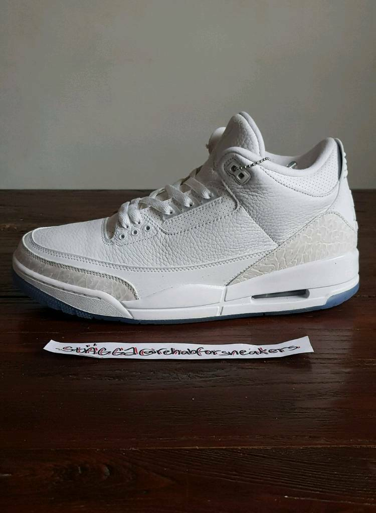 65fb192911d Nike Air Jordan 3 Pure White • UK 11 EU 46 US 12 • BNIB