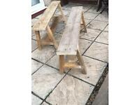 1 pair of Reclaimed farmhouse style benches
