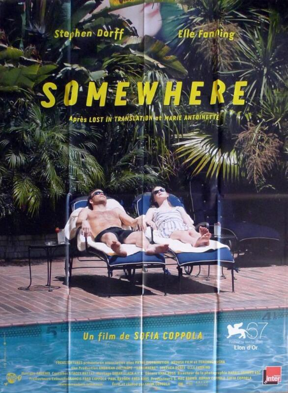 SOMEWHERE - COPPOLA / DORFF / FANNING /POOL - ORIGINAL LARGE FRENCH MOVIE POSTER