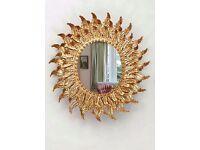 Dipamkar® - Ornate Vintage Style Gold Leaf Mirror - Brand New