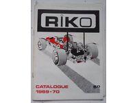 RIKO MINIATURE AUTO - NOSTALGIC VINTAGE COLLECTABLE CATALOGUE 1969 – 70