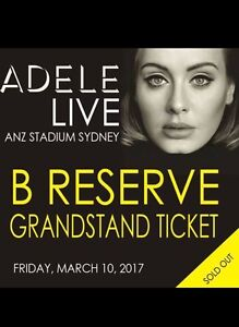 2 x Adele tickets $500 Brighton-le-sands Rockdale Area Preview