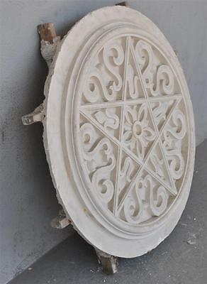 Moule ancien d'atelier de plâtrier staffeur - rosace étoile orientaliste