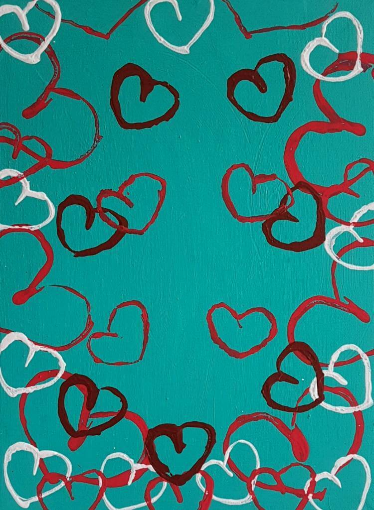 Valentines gift for him and her #2 Acrylic Painted Canvas WallArt