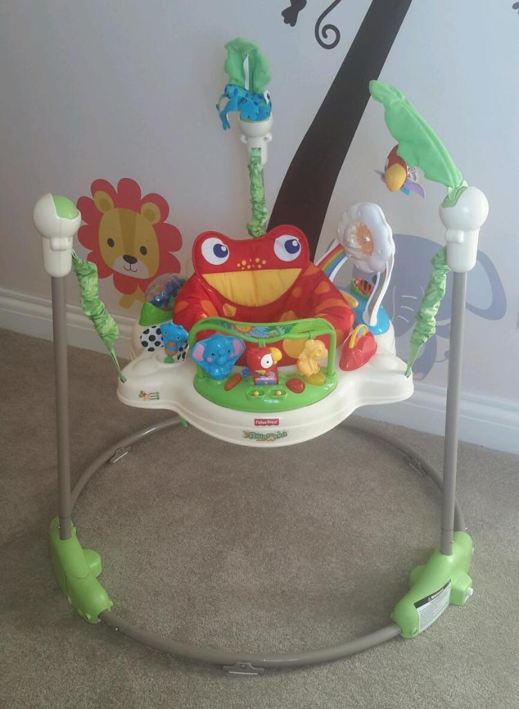Fisher price rainforest jumperoo in excellent condition for Door jumperoo
