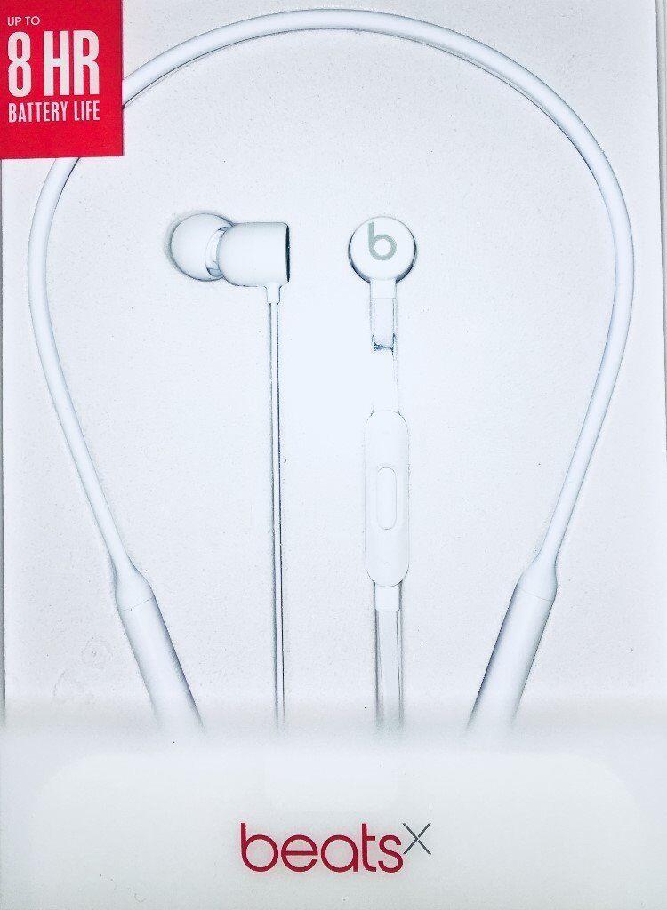 d639c54bbdf Apple BeatsX Earphones by Dr Dre, Wireless Bluetooth, White (Brand New  Unopened)