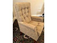 Fireside Chair High Seat High Back Sherborne brand