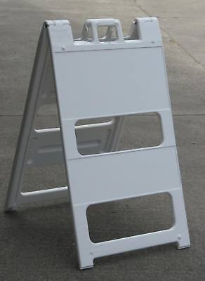 25 In. X 45 In. Signicade Plastic A-frame Sidewalk Message Sign - White 24x36