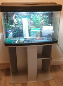 Fish tank and stand can deliver