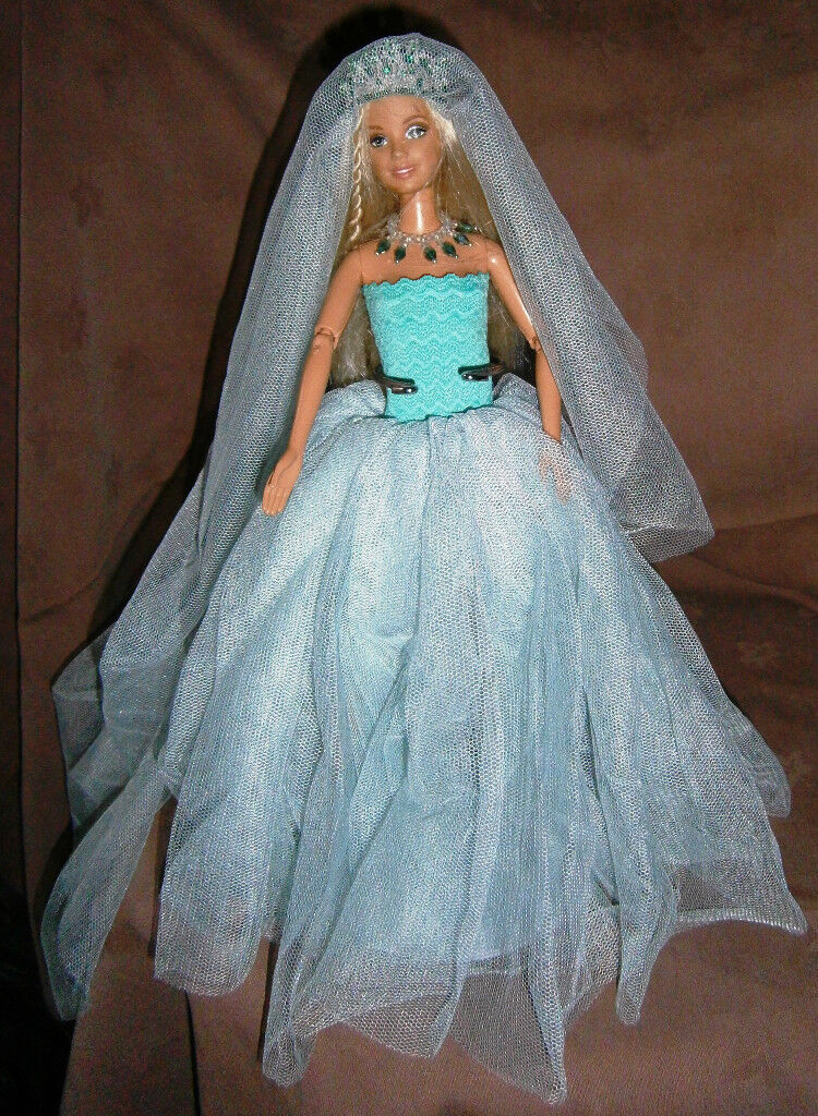 Bridal Dolls Barbie size with Handmade clothes and Jewelry