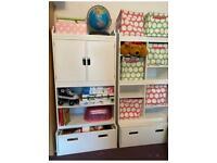 Playroom storage units