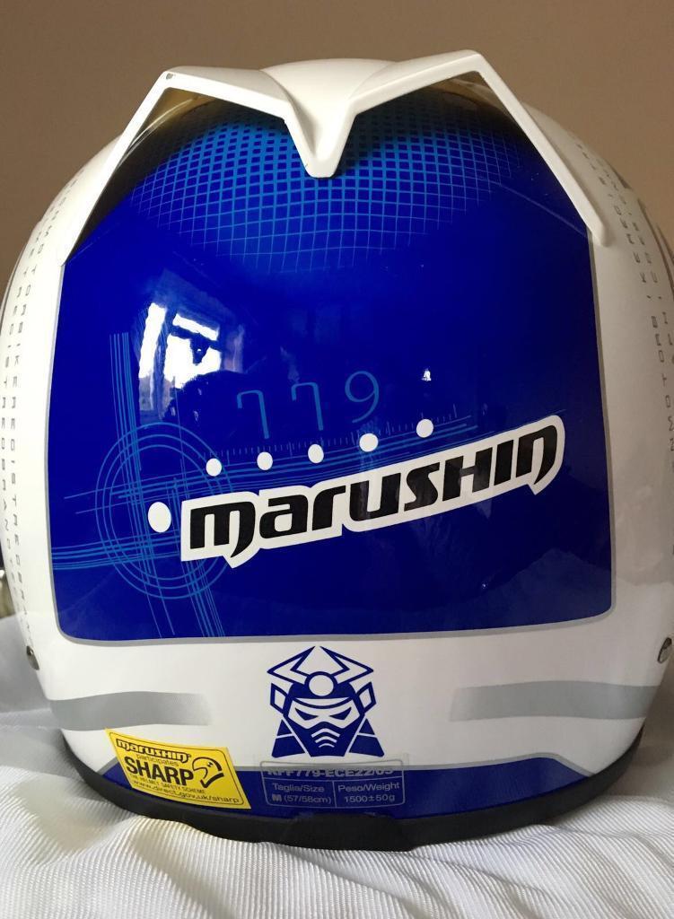 Marushin Biomech Bike Helmet Blue White Medium
