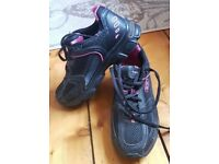 HI TEC BLACK WOMENS LADIES RUNNING TRAINERS R104 black pink vegan shoes 4 37 3.5