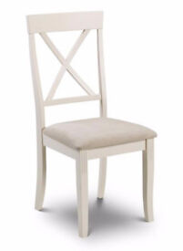 Julian Bowen Davenport Dining Chair, White