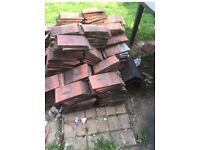 Red clay roof tiles - Approx 500