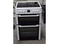 6 MONTHS WARRANTY Beko BDVC667 AA energy rated, double oven electric cooker FREE DELIVERY