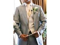Groom Wedding Suit, worn ONCE, blazer 38 inches, trousers 30-32 waist/30 leg