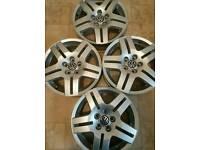 Volkswagen alloy wheels set of 4, 15 inch